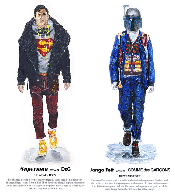 Superman y Jango Fett